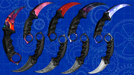 [MMD] Karambit Knife Special Pack for DL by AbyssLeo