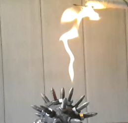 Spiked ball breathes fire! (No.3) by Sarinov