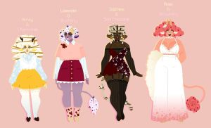 Ice Cream Cow Adopts: Edible Flowers (CLOSED) by chocoube