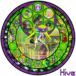 Hive - Stained Glass by Totalheartsboy