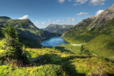 Mountainscape With Lake by Burtn