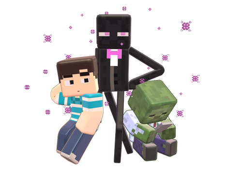 MMD Minecraft Smooth Steve preview Slamacow by 495557939