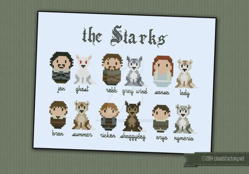 Mini People - Game of Thrones - The Starks by cloudsfactory