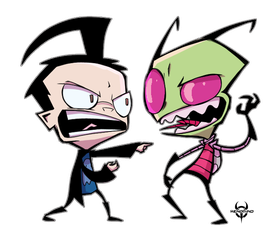 A Zim and Dib by XenoMind