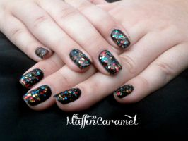 Paillettes multicolores by MuffinCaramel