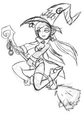 Witch doodle by rongs1234