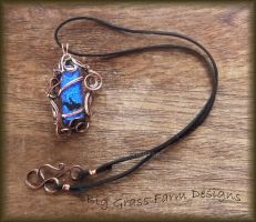 Dichroic Cowgirl Necklace by bgfdesigns