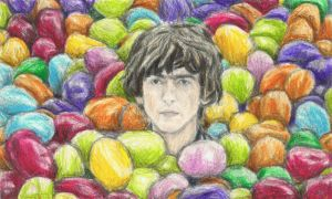 George Harrison buried in jelly beans by gagambo
