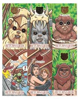 Star Wars Return of the Jedi sketchcards 2014 by JasonGoad