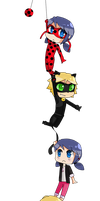 Miraculous Chibis by Eri-Berry