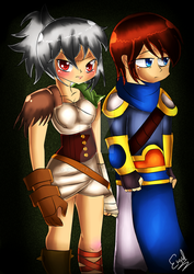 riven and garen (legue of legends) by enyelita