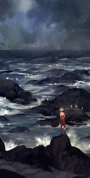 Waiting by the Seashore by MrDream