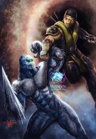 Scorpion vs Glacius by JPKegle