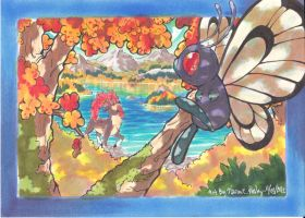 Butterfree and Sawsbuck