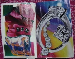 1st Altered Book 4, Favorites by angelstar22
