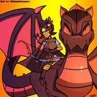 Dragon Knight Princess by Adam-Clowery