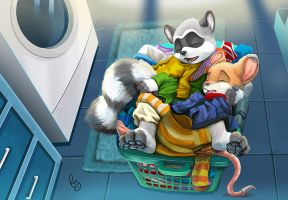 Laundry day by pandapaco