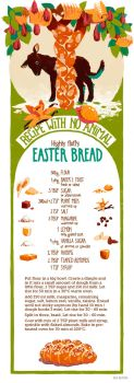 Recipe with no Animal: Easter Bread by Gnulia
