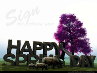 Spring Day - Save our rhinos by cyrusdv