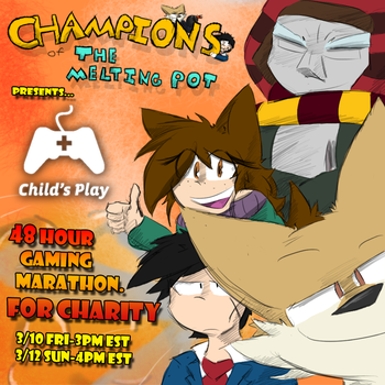 48 Hour Gaming Marathon For Charity by Dapuffster