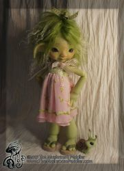 Ivy - green resin BJD - fullset - Wandering Rose by TheMushroomPeddler