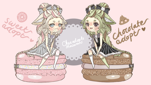 OPEN- Macaroon Adopts! (1 left!)(Auction) by TaiyouChee