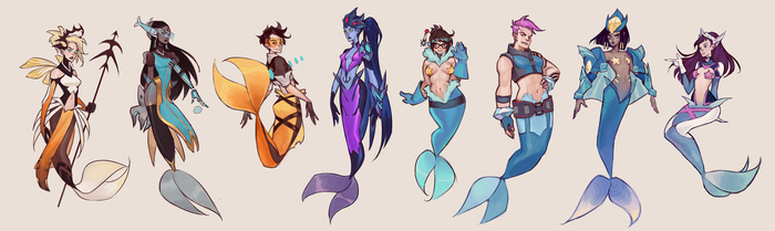 OVERWATCH MERMAIDS by mioree-art