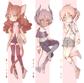 VALENTINES DAY THEMED ADOPTS [2/3 OPEN] by sviu