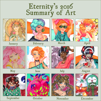 2016 Summary of Art by EternityEmporium