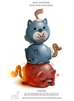 Daily Paint 1985# Bomberanians by Cryptid-Creations