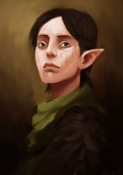 Dragon Age Merrill by cathuia
