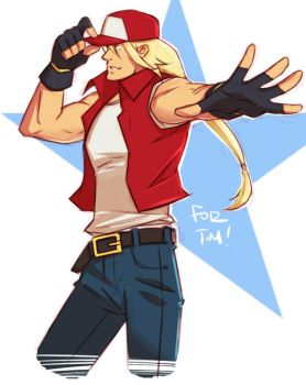 Terry Bogard Sketch by kawoninja