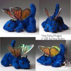 Tiny Blue Fairy Dragon Plush 2 by The-GoblinQueen