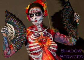 Full Body Sugar Skull by arynthefox