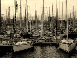 Barcelona - harbour by life-is-pichi