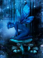 Blue Forest Fae by TinaLouiseUk