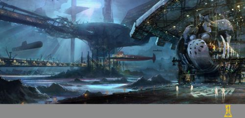 Underwater Submarine Station by Concept-Art-House