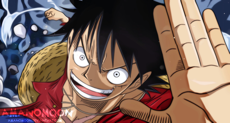 One Piece Monkey D Luffy Anime Manga Fighting 2018 by Amanomoon