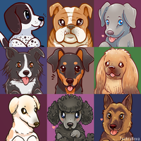 Doggo portraits Part 4 by SarahRichford