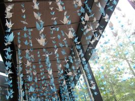 1000 Paper Cranes by ChibiIce