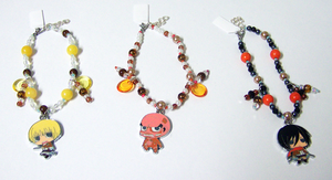 Attack on Titan Beaded Charm Bracelets 2 by jordannamorgan