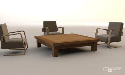 Chairs and Coffee Table by ComputerGenius