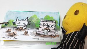 A doodle a day - cat food by Merc007