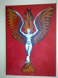 Phoenix Angel by spraypaintscott