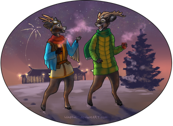 Reindeer Games [Commission] by WindSwirl