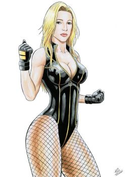 BLACK CANARY - Alona Tal by TIAGO-FERNANDES