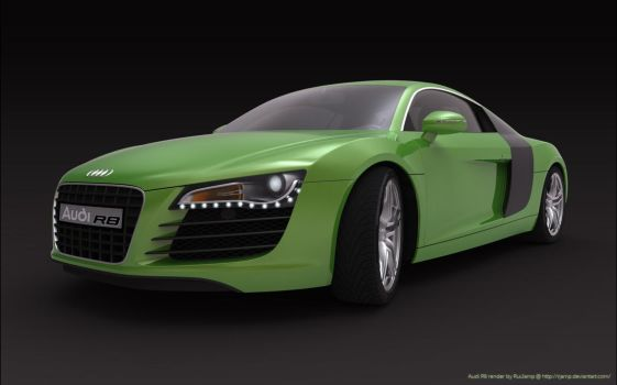 Audi R8 perspective front by RJamp