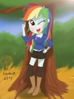 Rainbowdash - styllish girl by sumin6301