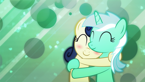 Lyra and Bon Bon Cuddles by Game-BeatX14