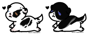 CLOSED Black/White Puppers! by LillyofIndominus